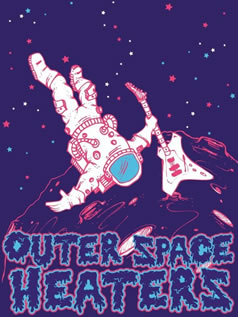 Outer Space Heaters spaceman logo